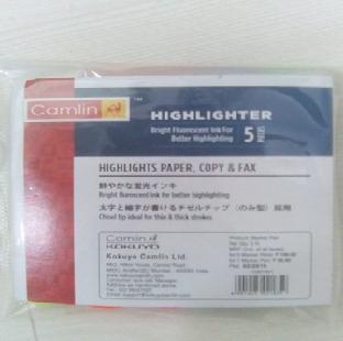 Highlighter Marker Pen Assorted 5 Pc/Set 7287001 CAMLIN Per Set
