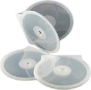 Plastic CD Cover Half Round