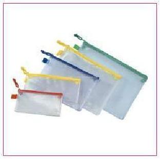 Plastic Zip Lock Bag Cheque Size Colorful