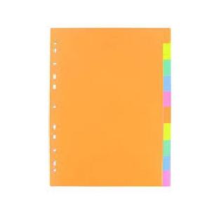 Regional Cardboard File Divider Index 1-10 A4