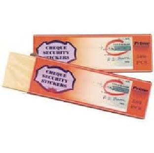Regional Cheque Safe Stickers 500 Pcs