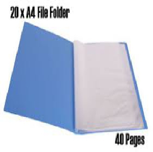 Regional Display File 40 Pockets A4