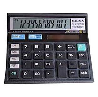 CALCULATOR CT-512 CROME/ORPART 12 DIGIT PER PC