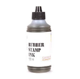 INK FOR STAMP PAD INK BLACK 25ML