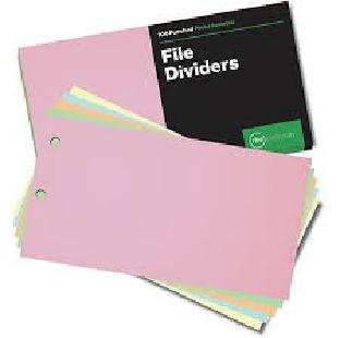 CARDBOARD FILE DIVIDER 1*8 PER PKT OF 50PCS