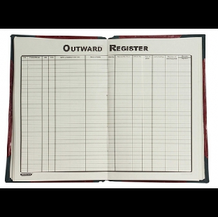 4 Quire Outward Register, Full Size