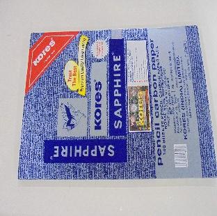 Blue Carbon Paper, 210 MM x 330 MM, 100 Sheets/Pack, Kangaro