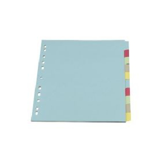 Cardboard File Dividers, A4, Assorted, 10 Sheets/Pack