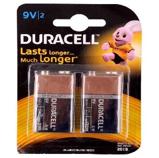 Duracell MN1604 Alkaline Battery,9V,2 Pcs/Pack