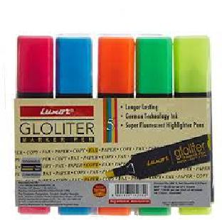 Hi-Lighter Marker Pen, Assorted, 5 Pc/Set, CAMEL