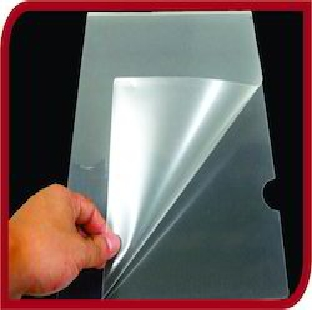 L Folder-A4 Transparent Natural Color 20 pcs/pk