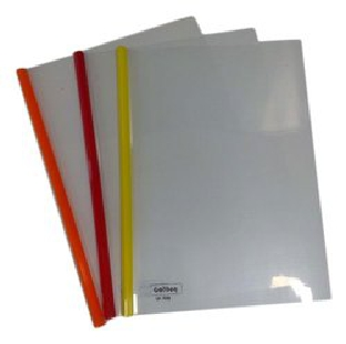 Milky Polypropylene Strip Folder, Size A4