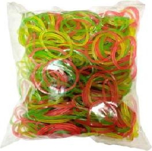 Nylon Rubber Band, 2 inch, Assorted Colours, 500 g / Pack