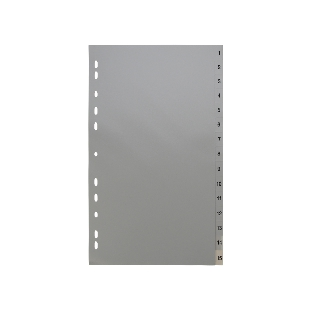 PVC File Divider ; Index 1-15, 15 Sheets/Set