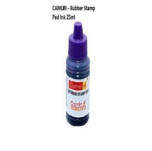 Stamp Pad Ink, Violet, 25 ML,Camlin