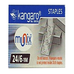 Staple Pins, No 24/6, 20 Pack/Box Kangaro