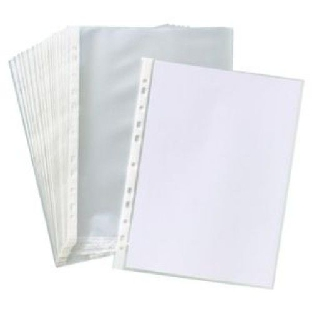Transparent Polypropylene Sheet Protector, A/4, 100 Pcs/Pk