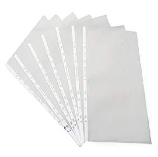 Transparent PVC Sheet Protector, D-Gauge, F/S 100 Pieces/pack