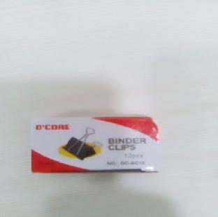 Binder Clips Sas 20050 Black 19 Mm SAS Per Pkt