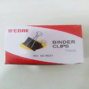 Binder Clips Black 51 mm 12 GOOD MAKE Per Pkt